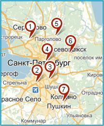 Сеть магазинов газового оборудования БАЛЛОН СПБ на карте