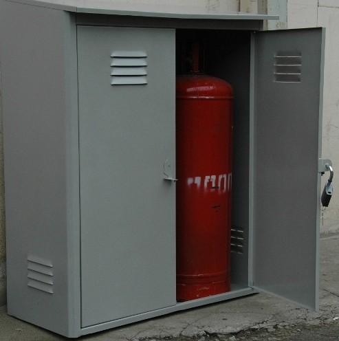 Металлический шкаф для газового баллона