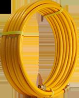 Труба для газа, гофрированная, желтая пм 15